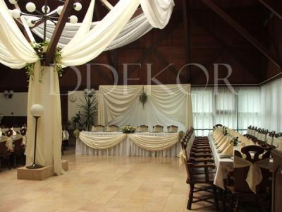 Hochzeitsdekoration in Crème