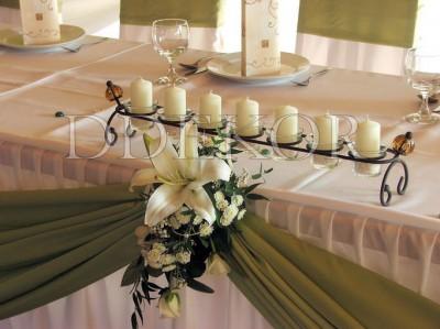 Haupttisch Kerzenreihe
