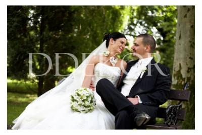 Kugelförmiger Brautstrauß