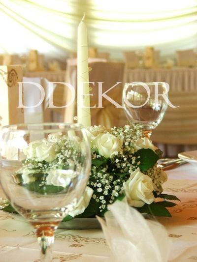 Hochzeitstischschmuck mit Kerzen