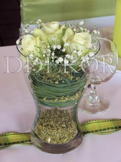Tischschmuck mit Rosen 2