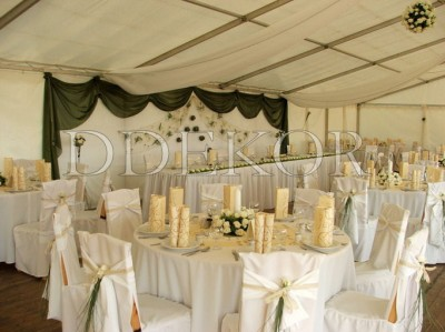 Hochzeitszeltdekoration