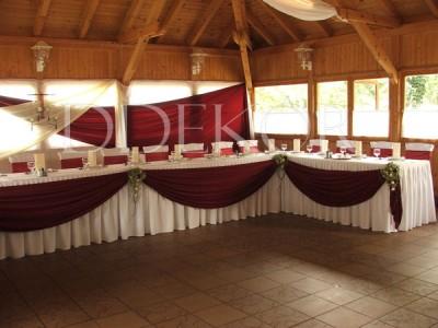 Hochzeitsfestdekoration, U-förmiger Haupttisch